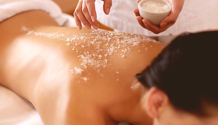 Salt Scrub and Oil Massage